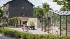 IKEA and Skanska are collaborating with the Queen of Sweden on an offshoot of their modular BoKlok housing that will meet the needs of the elderly and people with dementia. Co Housing, Modular Housing, Low Cost Housing, Modular Homes, Queen Of Sweden, Mews House, Dementia Care, Two Bedroom Apartments, Dining Table Design