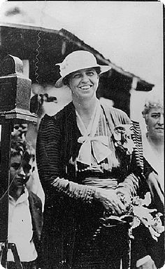 This photo from the Franklin D. Roosevelt Library was taken on August 12, 1933, shows Eleanor Roosevelt at the Whitetop Folk Music Festival.