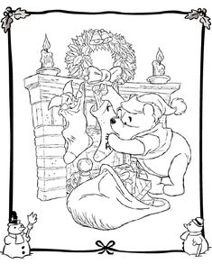32 Best Disney Christmas Coloring Page Images Coloring Pages For
