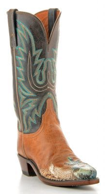 Womens Lucchese Pearl Boa Boots Chocolate Mad Dog #N4598