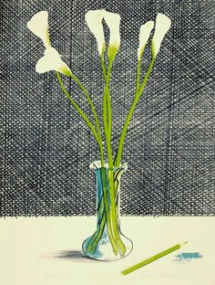David Hockney, Lillies, 1971. Lithograph, 29 1/2 x 21 inch.