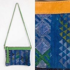 Goatskin and moroccan carpet ! Bright colours for Calasbcn new handmade bags  just Love them ! Now Available at our Etsy Shop  #bag #leather #green #blue #yellow #style #woman #fashion #photooftheday #new #barcelona #createdinbcn #craft #morocco #picoftheday #beautiful #etsy #followers #design # calasbcn#pin #