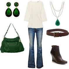 polyvore casual | Green Casual Chic - Polyvore on Wanelo