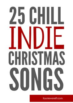 I love this list of holiday songs. Lots of great fresh takes on traditional songs from indie and pop artists.
