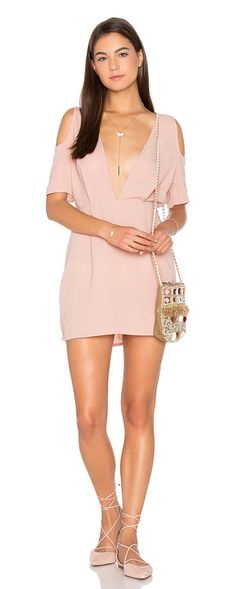 Veratta dress by Motel. 100% poly. Hand wash cold. Unlined. Keyhole back with button closure. Back zipper closure. MOTE-W...