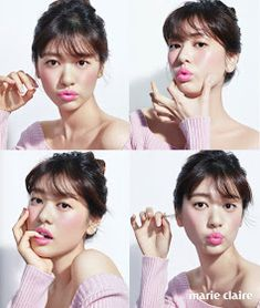 Actress Jung So Min shares her new lovely spring makeup trend with Marie Claire Korea, so make sure to check out what color lips she's wearing! Young Actresses, Korean Actresses, Korean Actors, Actors & Actresses, Hye Sung, Playful Kiss, Grunge, Hello Kitty Pictures, Jung So Min