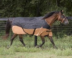 "Turnout Blanket ""Designer Collection"" Size: 72 Color: Black/Gold by Lami-Cell. $49.99. These waterproof and breathable turnouts feature a nylon lining to keep your horse?s coat smooth and polished. These turnouts also feature 600D ripstop polyester, 220 grams fill, shoulder gussets, double-buckle front closure with fixed web loop, tail flap, two belly surcingles, detachable elastic leg straps and a reusable zipper bag."