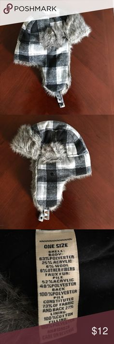 Plaid Faux Fur Trapper Hat Plaid Faux Fur Trapper Hat. Great Condition. Worn A Few Times Accessories Hats