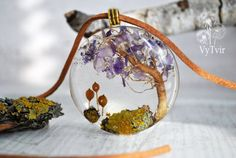 tree of life necklace yellow pendant necklace pendant by VyTvir