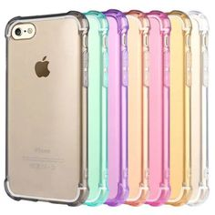 iPhone Case 5 SE 6S 7 7 Plus Slim Soft Gel Shockproof Protection Cover for Apple #UnbrandedGeneric