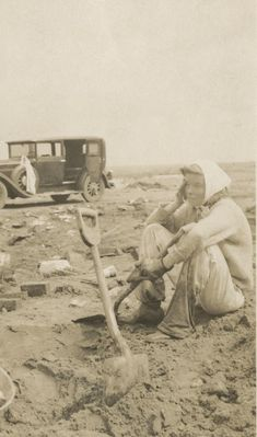 Katharine Hepburn sits amid the rubble left after the 1938 hurricane at Fenwick. (Follow the story and read about Hepburn and the hurricane).
