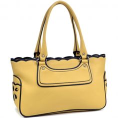 Dasein® Perforated Faux Leather Fashion Tote Handbag Only Sold {product_price} - fashlets.com