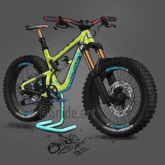 Fat Bike, Bicycle Art, Bicycle Design, Montain Bike, Bike Drawing, Downhill Bike, Chopper Bike, Bmx Bikes, Bike Life