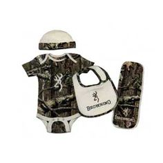 need this for the new nephew coming!!!!  Browning Baby Boy  Camo 4 Piece Set