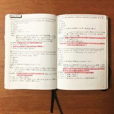 生活の全てを1冊のノートに記録し管理する!私のバレットジャーナルの中身紹介。 - わたしのバレットジャーナル Note Taking Tips, Diary Planner, Studyblr, Thing 1, Useful Life Hacks, Bullet Journal Inspiration, Journal Ideas, How To Make Notes, Travelers Notebook