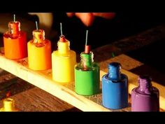 Bottles Of Paint Exploding In Slow Motion - #cool