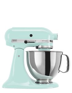 Kitchen Artisan Stand Mixer Ice Blue {love this}