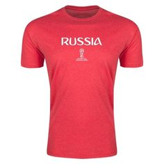 Russia 2018 FIFA World Cup Russia™ Supersoft T-Shirt (Heather Red)