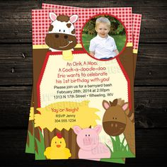 Barnyard Farm First Birthday Party by LittleBeesGraphics on Etsy, $12.99