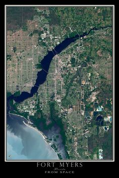 Fort Myers Florida Satellite Poster Map