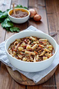 Gustosa e semplicissima #pasta e #lenticchie con #patate e pancetta #ricetta #zuppa #comfortfood #createtoinspire