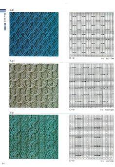 Knitting patterns book 300 - Ewa P - Picasa Web Albums Knitting Paterns, Knitting Machine Patterns, Cable Knitting, Knitting Charts, Loom Patterns, Crochet Stitches, Hand Knitting, Stitch Patterns, Crochet Patterns
