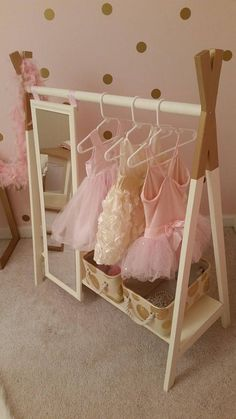 Kids Furniture Girls Dress Up 69 Ideas Toddler Dress Up, Girls Dress Up, Dress Up Clothes Storage, Dress Up Wardrobe, Wardrobe Rack, Small Lounge Rooms, Wood Clothing Rack, Dress Up Stations, Diy Kids Furniture