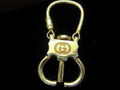 RARE Vintage Gucci Gold Tone Classic Key Chain | eBay