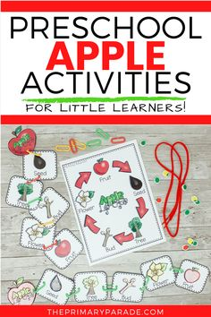 Looking for apple themed activities for preschool or kindergarten? You will really love these preschool apple activities, centers, and low prep resources. Work on letters, counting, ten frames, beginning sounds, life cycles and more in this awesome set of apple fun Preschool Reading Activities, Preschool Learning, Phonics Lessons, Preschool Lessons, Preschool Apple Theme, Phonics Centers, First Grade Phonics, Reading Themes, Ten Frames