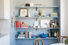The ombre is just lighting BUT...such a good idea! Alice Gao's Gramercy Apartment | A Cup of Jo