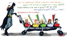 YJ: DaddyBats by DreamaDove93 on deviantART (Superman needs some serious parent counseling)