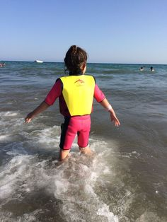 "Olivia Getting Confident in Water with ""Konfidence"" - All Baby Advice Half Term Holidays, Beach Holiday, Confidence, Jacket, Water, Swimwear, Gripe Water, One Piece Swimsuits, Swimsuit"