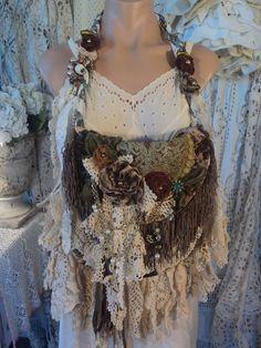 Handmade Shoulder Bag Vintage Lace Jewelry Carpet Boho Gypsy Purse tmyers #Handmade #ShoulderBag