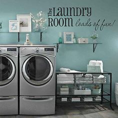 Laundry Room Wall Decals - Loads of Fun U34 - Decor Designs Decals - 1