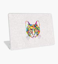 RainboCat Laptop Skin Macbook Pro Retina, Macbook Air, Surface Laptop, Laptop Decal, Laptop Skin, Kitten, Rainbow, Color, Things To Sell