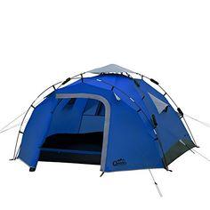 Qeedo Quick Pine 3 Seconds Tent 3 Man Camping Tent (Quick Up System) - UKsportsOutdoors Outdoor Life, Outdoor Camping, Outdoor Gear, Hiking Tent, Camping And Hiking, Camping Ideas, Camping Stuff, Tent Set Up, Pop Up Tent
