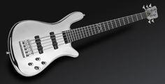Warwick Robert Trujillo Streamer Signature 5-String Bass [Quicksilver Chrometone Finish] #metallica Bass Guitars, Acoustic Guitars, Electric Guitars, Warwick Bass, Pictures On String, Robert Trujillo, Fender Squier Affinity, Epiphone, Erotica