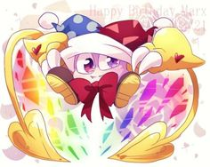 Happy birthday Marx by banami-luv on DeviantArt Nintendo Characters, Disney Characters, Kirby Character, Meta Knight, Cute Art, Bowser, Pokemon, Happy Birthday, Fan Art