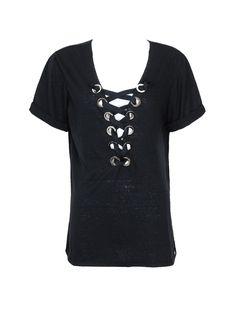 T-Shirt Ilhos Preto
