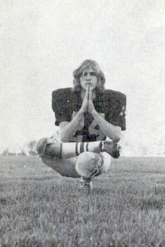 1975: Magazine article ~  A new union between Yoga and American Football