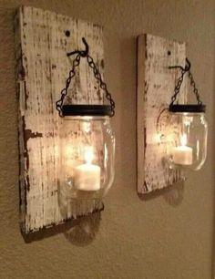 DIY Pallets and Mason jar Lamps | 99 Pallets