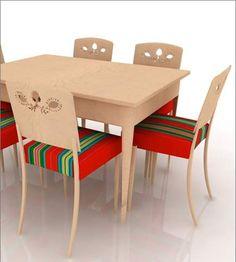 Furniture Sets, Furniture Design, Folk Print, Chair Design, Dining Table, Style Inspiration, Traditional, Modern, Diy