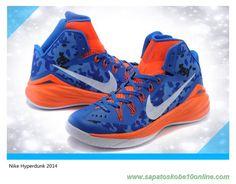 separation shoes 6f809 b3ef4 tenis de basket 708067-995 Royal Azul   Laranja Nike Hyperdunk 2014 iD