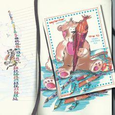 Das kleine Äffchen, Geburtstagskalender. Kalender ohne Jahreszahl und Tagesangabe, wiederverwendbar, Format 20x20, September