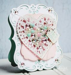 True Love - Scrapbook.com - gorgeous Valentine's card.