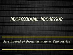 Welcome to Professional Processor online store. Professional Processor helping you to enhance the flavor of your food by using the #cooking items (or different cookware's) available in our store. All our #cookwares are minerals rich and chemical free .So buy the best cookware here in proprocessor.com .Several equipment's description in this document are  #bowl_chopper, #electric_meat_tenderizer, #deer_processing_equipment and many more.