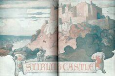 "Endsheets - Stirling Castle: ""The Scottish Chiefs"" by Jane Porter / Illustrated by N.C. Wyeth  (Scribner, 1941)"