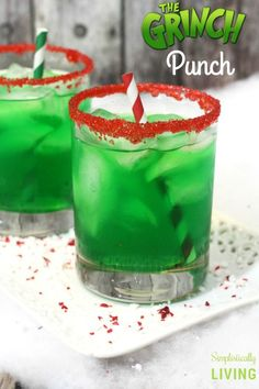Grinch Punch - - Grinch Punch Holiday drinks The Grinch Punch – a deliciously green punch that is as mean as Mr. It's sweet, it's sour, it's everything you could want in a Christmas punch. Christmas Party Drinks, Christmas Drinks Alcohol, Holiday Cocktails, Christmas Treats, Grinch Christmas, Christmas Shots, Christmas Desserts, Christmas Recipes, Summer Christmas
