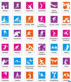 #Vocabulary #English - Sports pictures with vocabulary