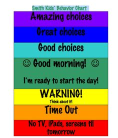 Free Printable Behavior Charts For Kids  Behaviour Chart Free
